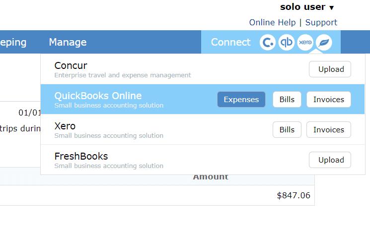 QuickBooks Integration - TripLog