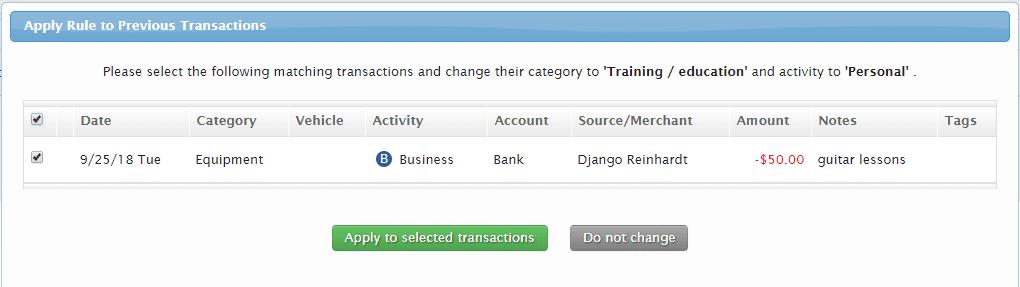 triplog mileage tracking app bank integration