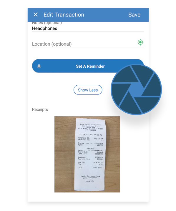 triplog receipts mileage app