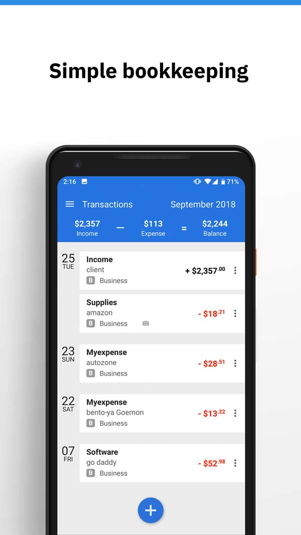 simple accounting app