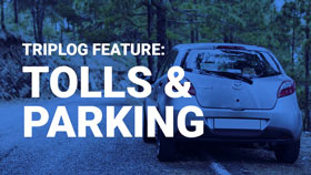 TripLog mileage tracking app tolls and parking