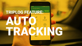 Auto-start option triplog mileage tracking app