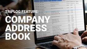 Company address book triplog mileage tracker