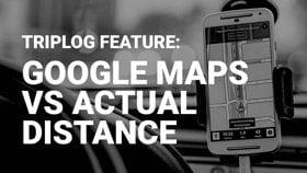 Route planning triplog mileage tracker