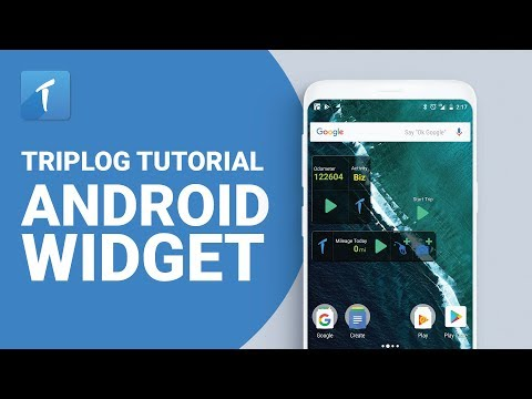 TripLog Android Widget TripLog Tutorial Video