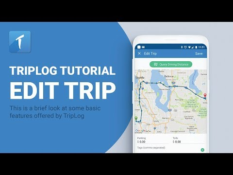 TripLog Mileage Tracking App Edit Trip video