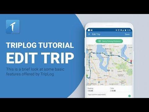 TripLog Mileage Tracking App Edit Trip video