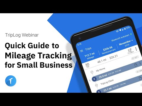 Quick Guide to TripLog Mileage Tracking for Small Business