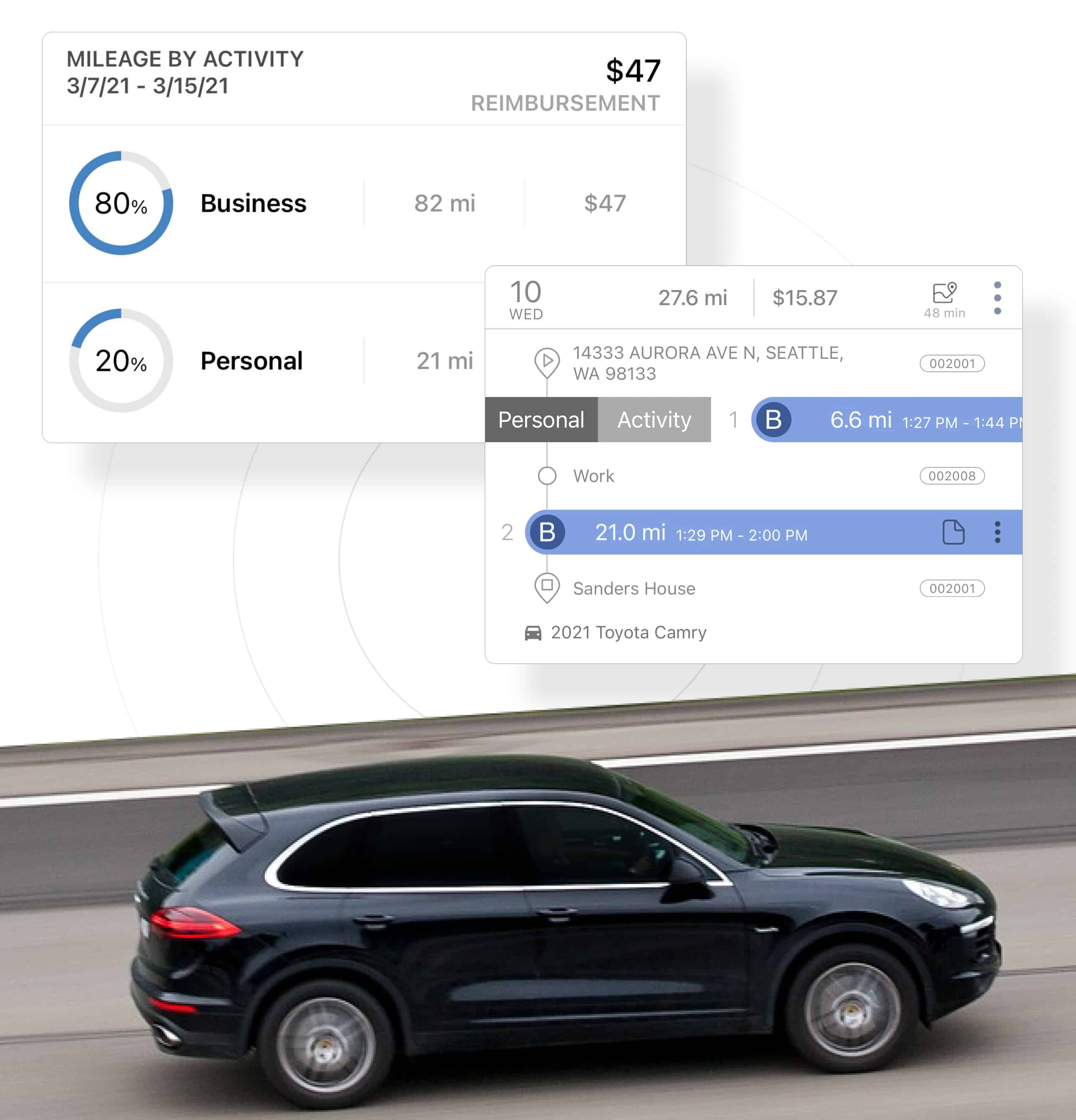 medical mileage time expense tracking