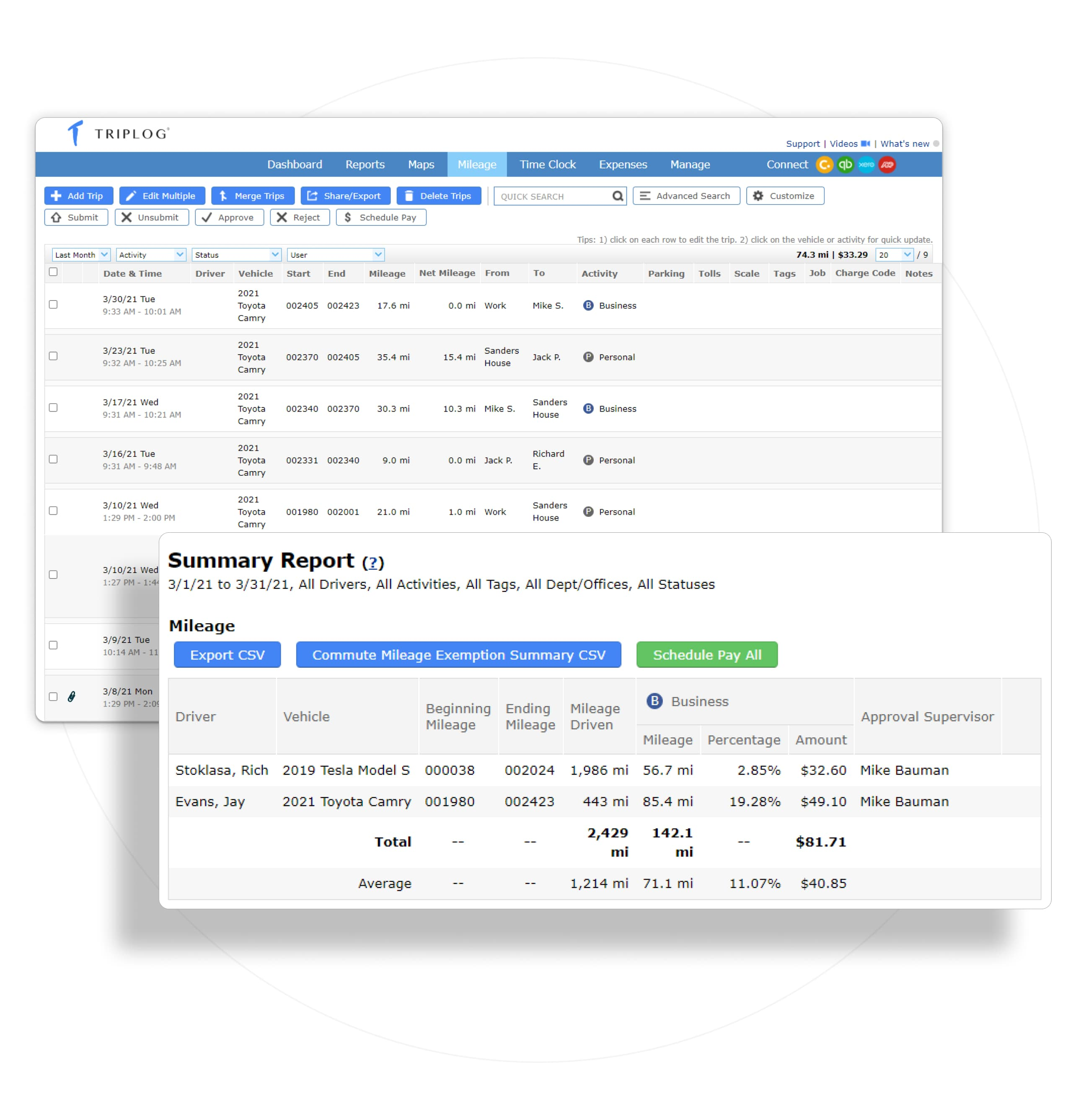 audit proof tax returns mileage expense tracking small medium business