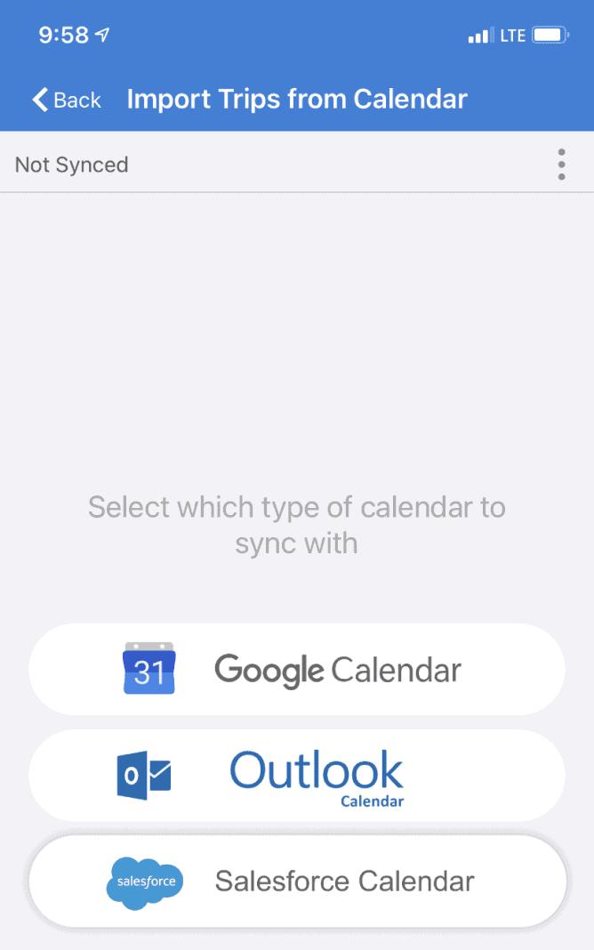 TripLog Calendar Integration