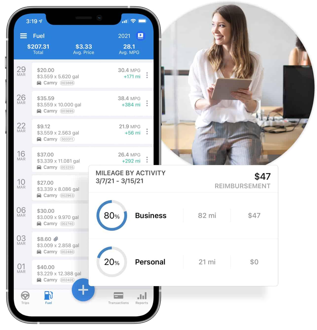 triplog is the best mileage reimbursement platform for teams and companies