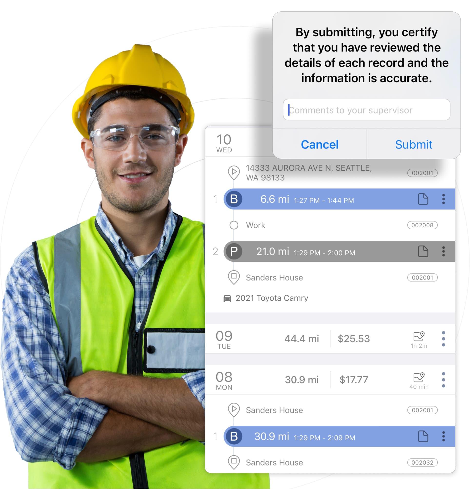 triplog mileage expense reimbursement for mobile construction teams