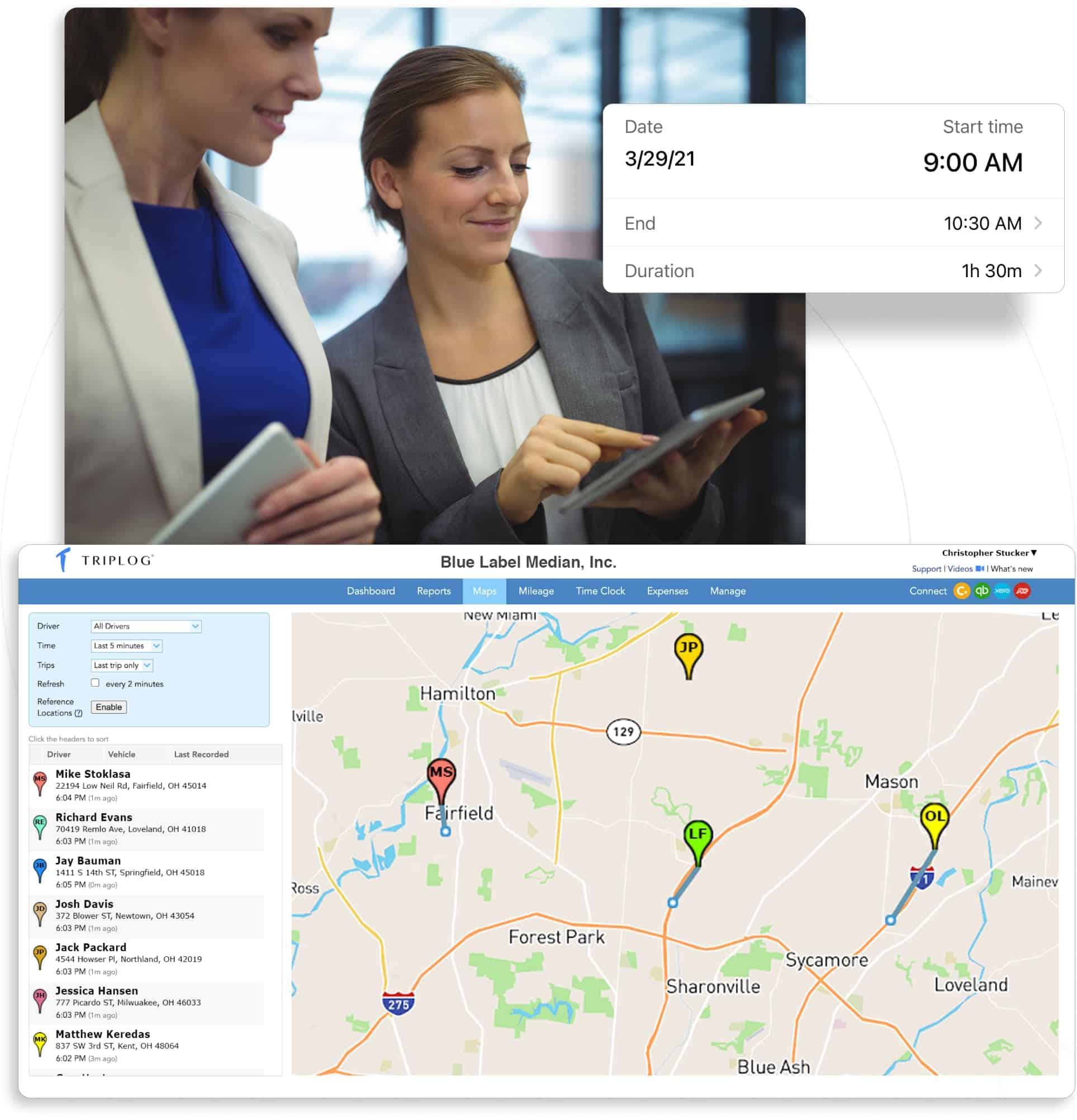 triplog mobile workforce management gps