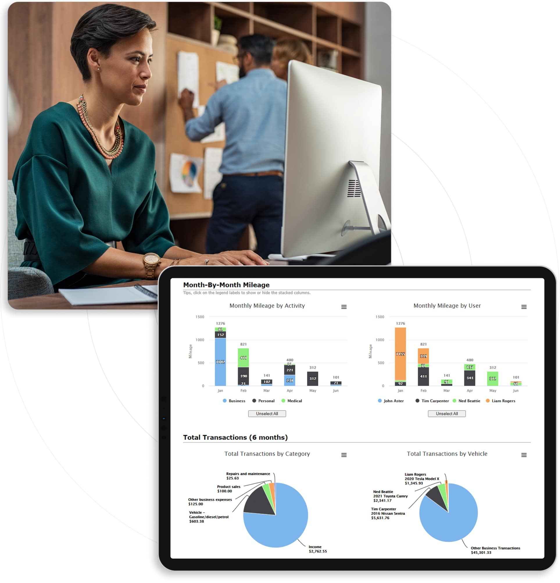 triplog visibility dashboard data for companies with mobile teams